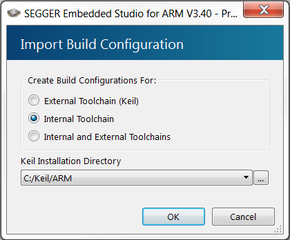Importing Keil projects into SEGGER Embedded Studio